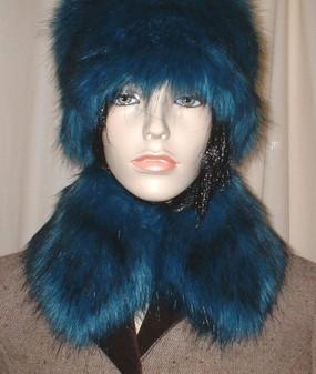 Blue Lagoon Faux Fur Collar