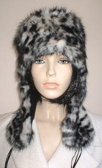 Panther Faux Fur Trapper Hat