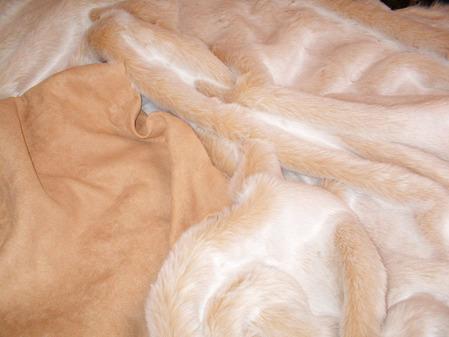 Sunny Bear Faux Fur Throw