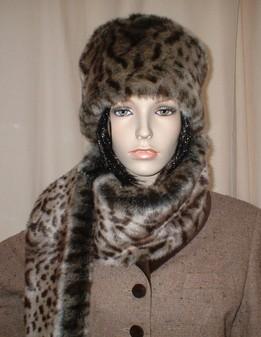 Ocelot Faux Fur Scarf