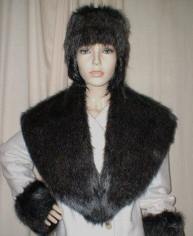 Wolfhound Faux Fur Shawl Collar