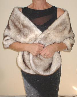 Polar Fox Faux Fur Stole