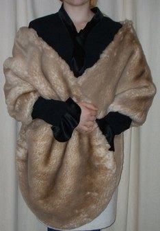 SALE Tissavel Cream Caramel Faux Fur Long Stole