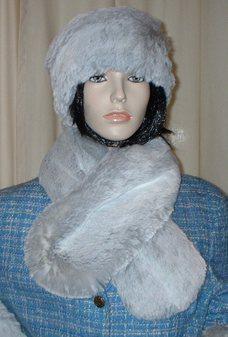 Silver Sable Faux Fur Neck Scarf