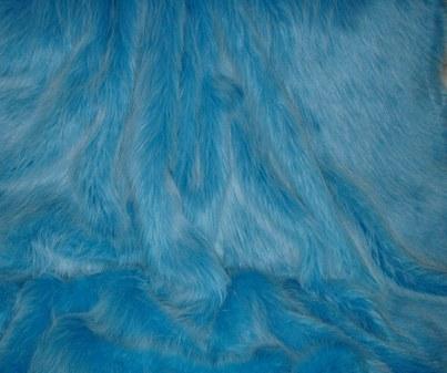 Sky Blue Faux Fur per meter
