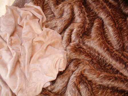 Latte Cuddle Soft Velboa Swatch
