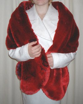 Devil Red Faux Fur Stole