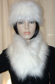 Polar Bear Faux Fur Long Collar