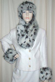 Winter Leopard Faux Fur Cuffs