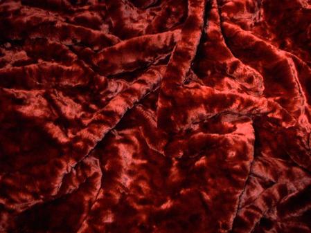 Scarlet Crush Faux Fur