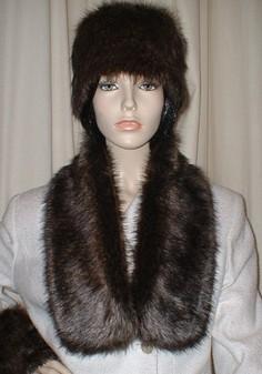 Brown Bear Faux Fur Neck Scarf
