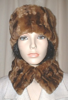 Vintage Gold Astra Faux Fur Collar