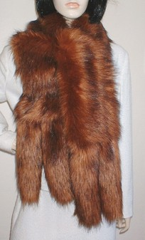 Red Fox Faux Fur Tail Scarf
