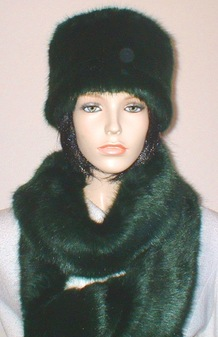 Hunter Green Faux Fur Hat