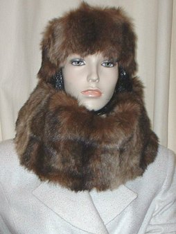 Russian Sable Faux Fur Cowl/Neck Warmer