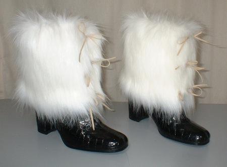 Polar Bear Faux Fur Boot Wrap