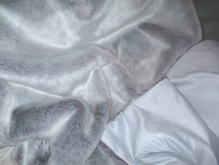 Silver Lavender Fox Faux Fur Throw