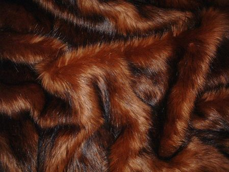 Red Fox Faux Fur Swatch