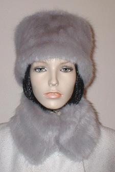 Silver Mink Faux Fur Hat