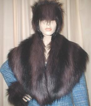 Misty Faux Fur Shawl Collar