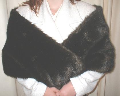 Mahogany Mink Faux Fur Stole