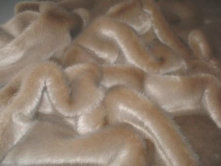 Honey Blonde Faux Fur per meter