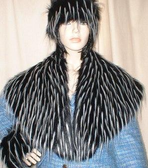 Porcupine Faux Fur Shawl Collar