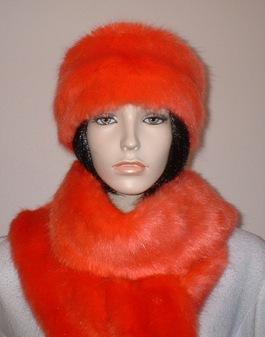 Coral Faux Fur Headband