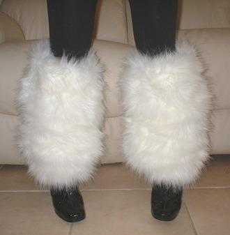 Polar Bear Faux Fur Leg Warmers