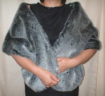 Arctic Wolf Faux Fur Stole