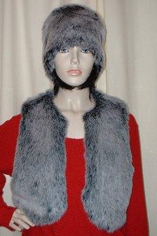 Arctic Wolf Faux Fur Bolero Waiscoat