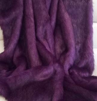 Royal Purple Faux Fur Cropped Jacket