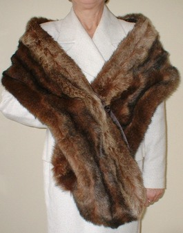 Russian Sable Faux Fur Slim Stole