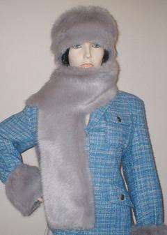 Silver Mink Faux Fur Scarf