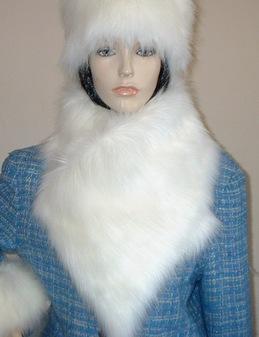 Polar Bear Faux Fur Vintage Asymmetric Scarf