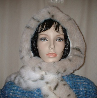 Snow Lynx Faux Fur Hoodie
