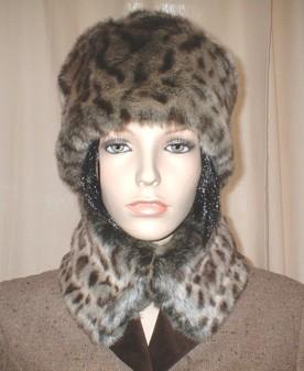 Ocelot Faux Fur Hat