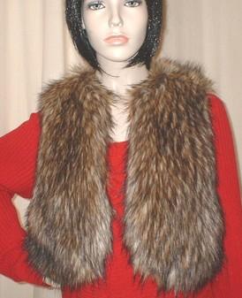 Simba Faux Fur Bolero Waistcoat