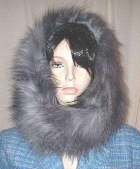 Siberian Wolf Faux Fur Cowl/Neck Warmer