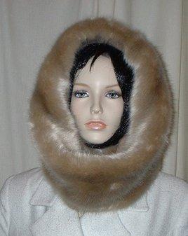Honey Blonde Faux Fur Cowl/Neck Warmer