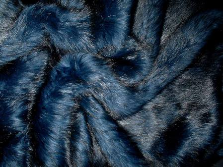 Midnight Blue Faux Fur Swatch