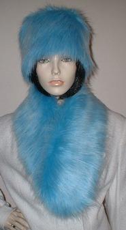 Sky Blue Faux Fur Neck Scarf
