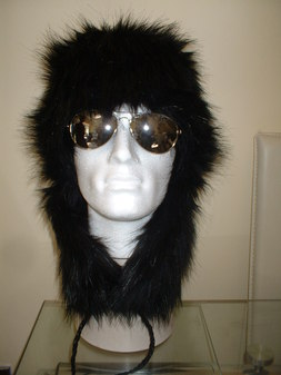Black Bear Faux Fur Trapper Hat