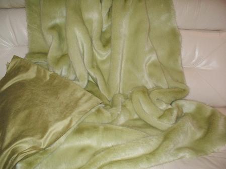 Pistachio Faux Fur Throw