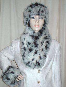Winter Leopard Faux Fur Neck Scarf