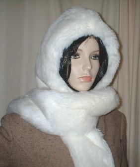 Snow White Faux Fur Hoodie