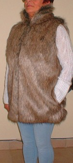 Husky Faux Fur Long Gilet