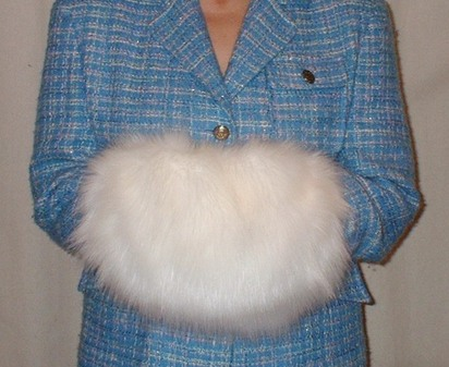 Polar Bear Faux Fur Muff