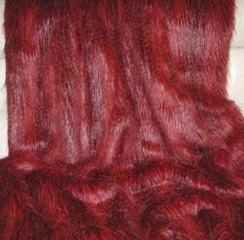 Scarlet Pimpernel Faux Fur per meter