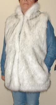 Alaska Faux Fur Long Gilet